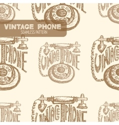 Retro phone vintage vector