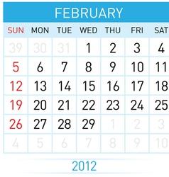 february calendar vector image