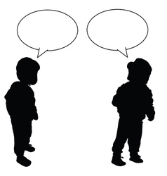 child with speech bubble vector image