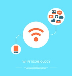 Wi-fi technology vector