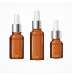 Essential oil bottle package set vector