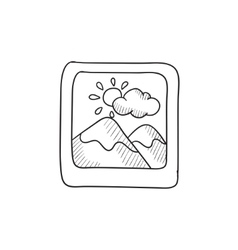 Picture sketch icon vector