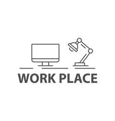 Black work place sign vector