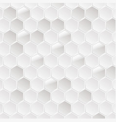Abstract white hexagonal background vector