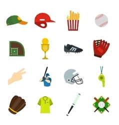 American football flat icons vector