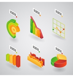 Analytical charts for infographics vector