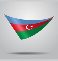 azerbaijani flag background vector image vector image