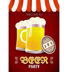 Beer party flyer vector
