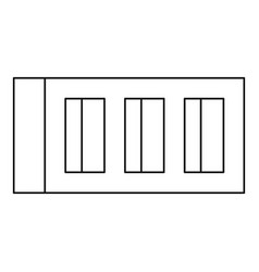 Block icon outline style vector