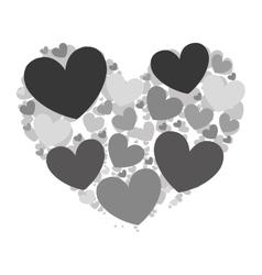 cartoon heart icon image vector image vector image