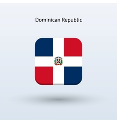 Dominican republic flag icon vector