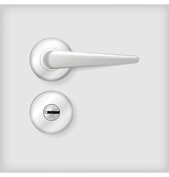 Door handle and lock vector