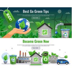 ecology banner set vector image