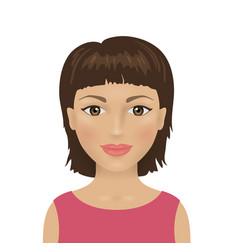 Female avatar icon young attractive woman vector
