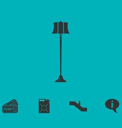 floor lamp icon flat vector image vector image