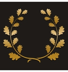gold laurel wreath with sample text vector image