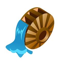 Icon waterwheel vector