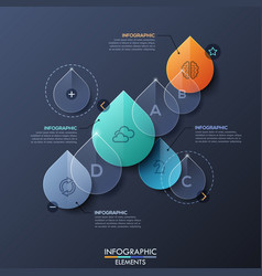 infographic design layout with separate elements vector image