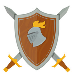 Knights shield medieval weapons heraldic vector