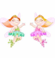 little fairies vector image