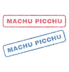 Machu picchu textile stamps vector