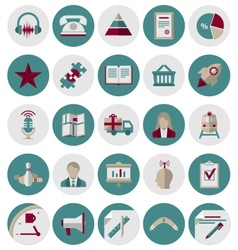 Management and Marketing Icons Set2 vector image vector image