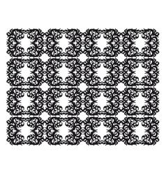 ornamental silhouette vector image vector image