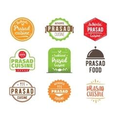 Prasad cuisine label vector