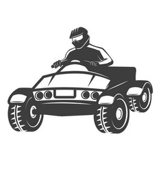 quad bike isolated on white vector image vector image