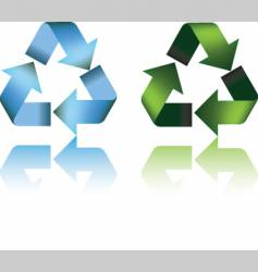 recycle symbol and reflection vector image