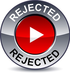 Rejected round button vector