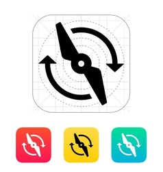 Rotor rotating icon vector