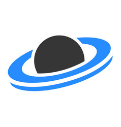 Saturn planet flat icon vector