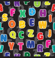 seamless background letters kids alphabet colorful vector image vector image