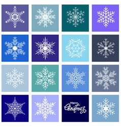 set christmas snowflakes vector image