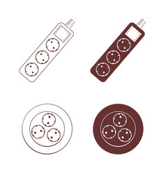 socket icon set vector image