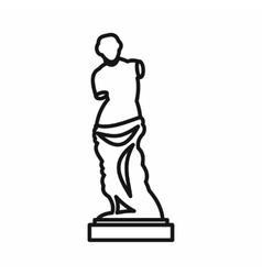 Statue of Venus de Milo icon outline style vector image