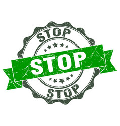 Stop stamp sign seal vector