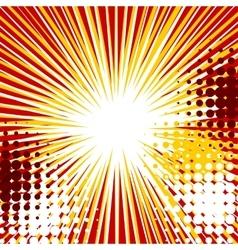 Sunbeam halftone comic speech bubble vector image