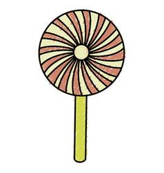 Sweet lollipop isolated icon vector