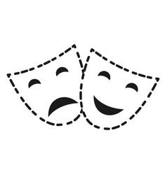 Theater faces icon vector
