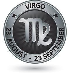 Virgo zodiac silver sign virgo symbol vector image vector image