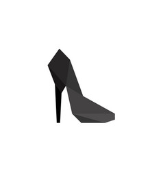Women shoes in polygonal style vector