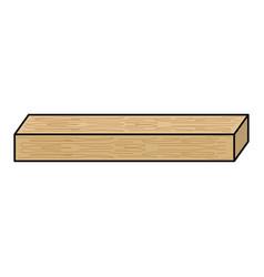 Wooden beam vector