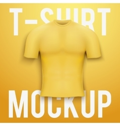 Yellow t-shirt on background Product mockup vector image