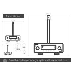 Transmitter line icon vector