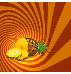 Striped spiral pineapple confectioners background vector