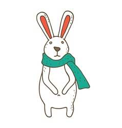 Small cute cartoon bunny vector