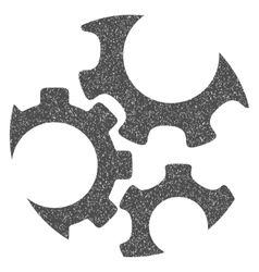 Mechanics gears grainy texture icon vector
