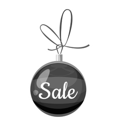 Christmas ball with the inscription Sale icon vector image